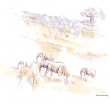 Elephants on the Move by Alison Nicholls ©