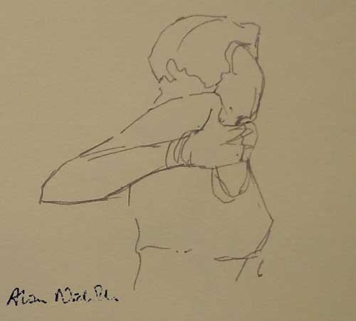 1 minute life drawing sketch by Alison Nicholls