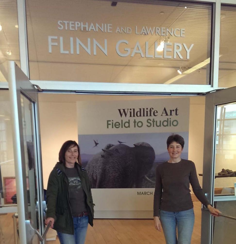 Wildlife art exhibition setup at the Flinn Gallery, Greenwich, CT.