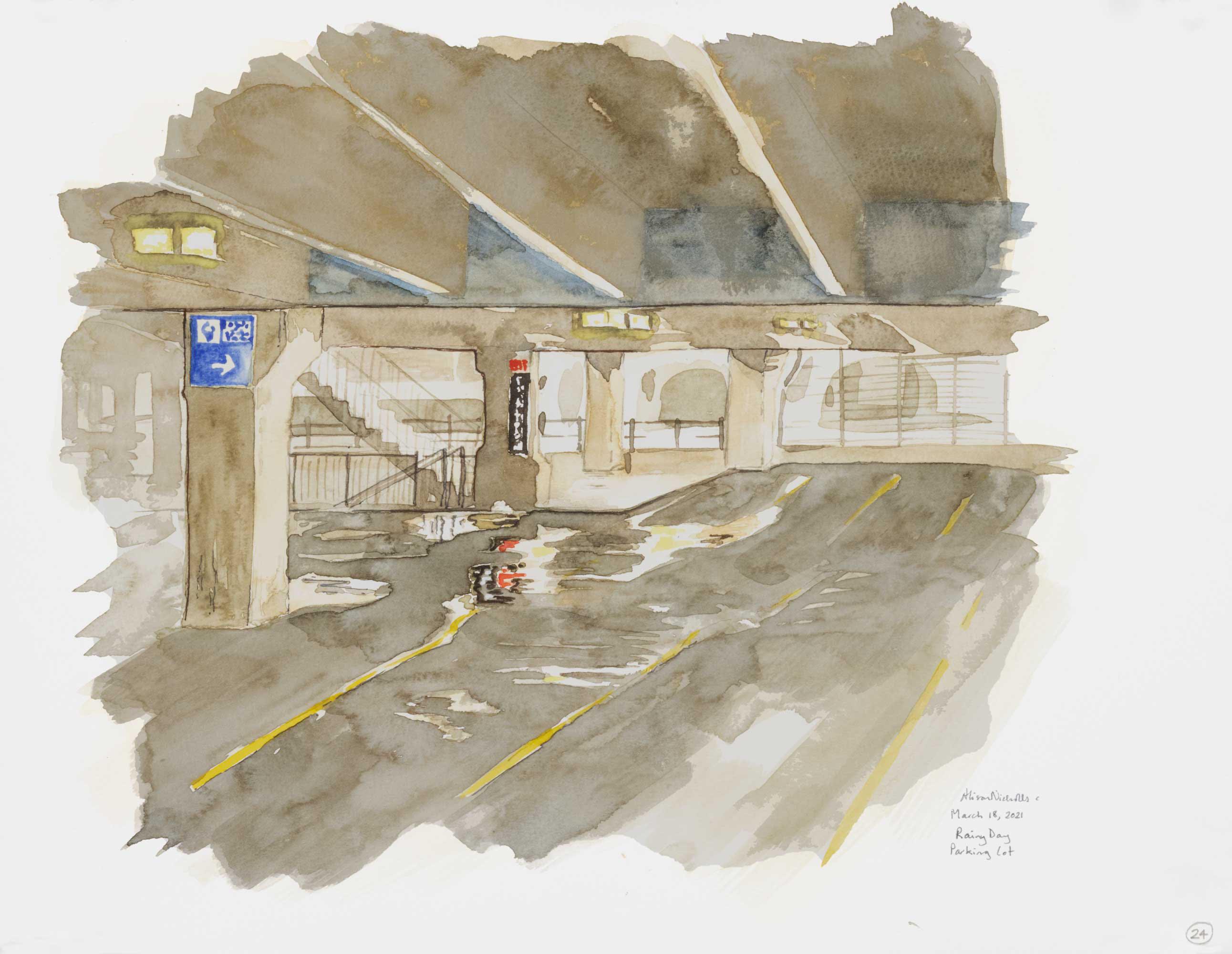 Rainy Day Parking Lot