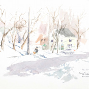 Snow on Putnam Terrace. SOLD