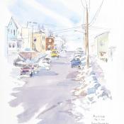 Snow on Ellendale Ave