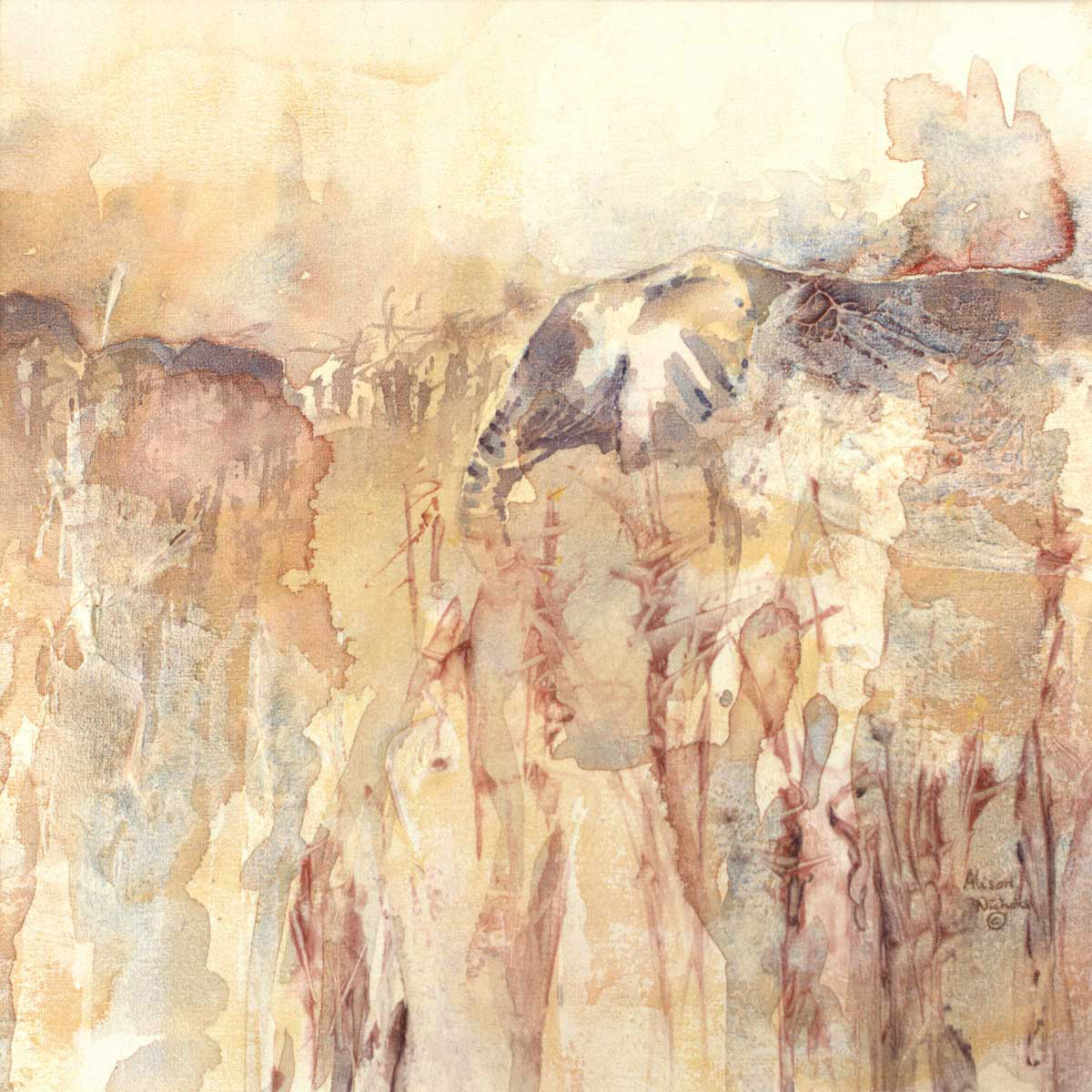Elephants in Mopane by Alison Nicholls