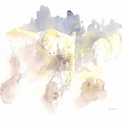 Elephants in Brown Field Sketch