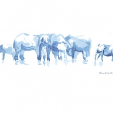 Elephants at Water I © Alison Nicholls
