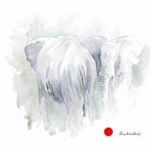 Bull Elephants by Alison Nicholls