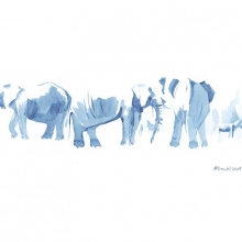 Elephants at Water IV © Alison Nicholls