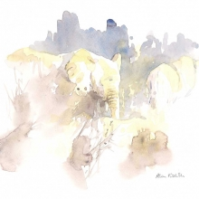 Elephants in Brown by Alison Nicholls ©