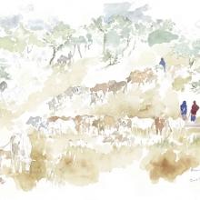 Watering the Cattle © Alison Nicholls