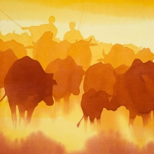 The Herd (Maasai and cattle) © Alison Nicholls