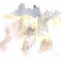 Elephants in Brown Field Sketch by Alison Nicholls ©