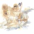 Lion Cubs Field Sketch by Alison Nicholls ©
