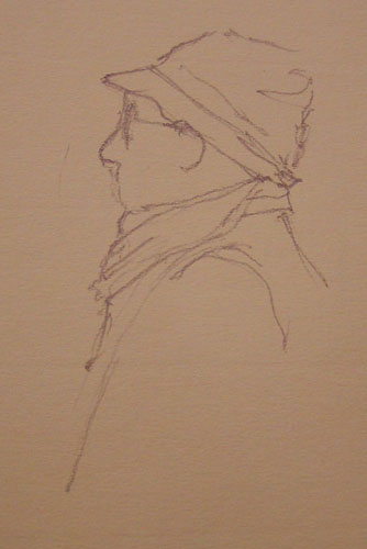 Exhibit Visitor sketch by Alison Nicholls