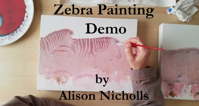 Zebra-Painting-Demo by Alison Nicholls